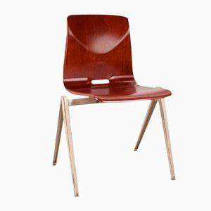 Chaise d'École Vintage Industrielle Modèle S22 de Galvanitas, Pays-Bas