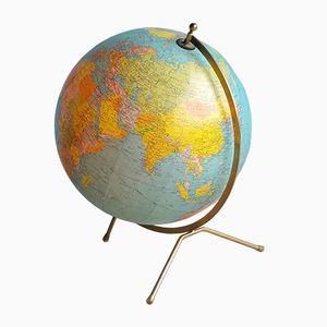 Beleuchteter Französischer Glas Globus von Cartes Taride, 1972
