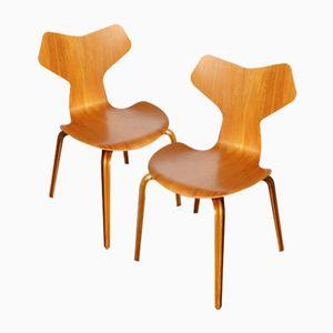 Sedie modello 4130 Grand-Prix di Arne Jacobsen per Fritz Hansen, anni '50, set di 2