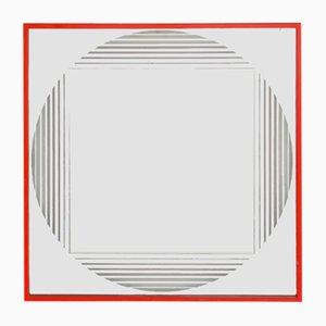 Specchio Brama vintage con luce di Gianni Celada per Fontana Arte