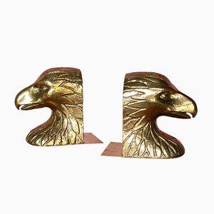 Spanische Vintage Messing Adler Buchstützen von Valmazan, 1970er, 2er Set