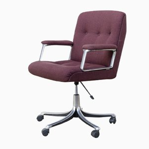 Chaise de Bureau Pivotante P128 Mid-Century par Osvaldo Borsani pour Tecno