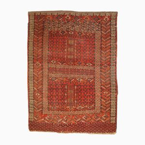 Antique Turkmen Engsi Handmade Rug, 1900s