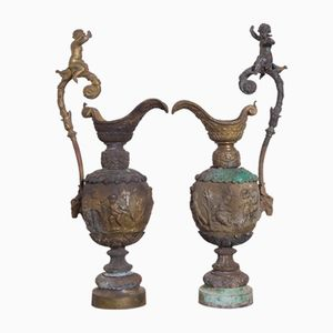 Bronze Ewers, 1900s, Set of 2