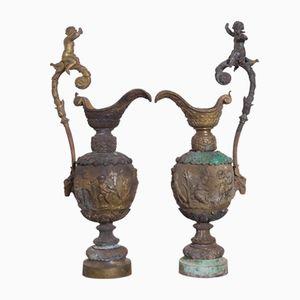 Bronzene Wasserkrüge, 1900er, 2er Set