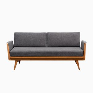 Mid-Century German Solid Walnut Daybed by Knoll Antimott