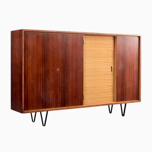 Vintage Palisander Veneered Highboard