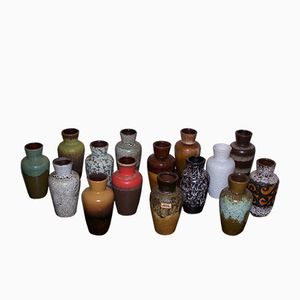 Vintage German 523-18 Ceramic Vases from Scheurich, Set of 15
