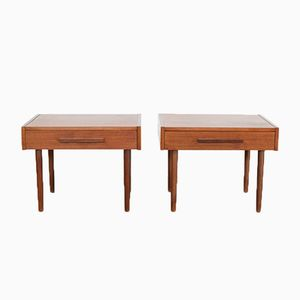 Tables de Chevet en Teck, Danemark, 1960s, Set de 2