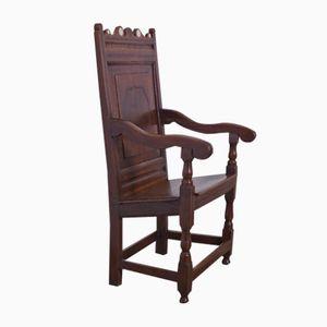 Antique Wainscot Armchair