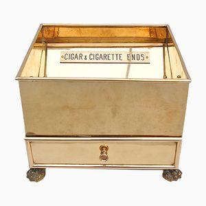 Vintage Brass Cigar & Cigarette Ends Container