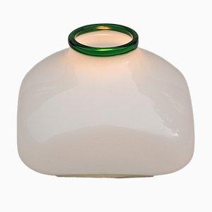 Lampada vintage in vetro opalino di Ettore Sottsass per Vistosi