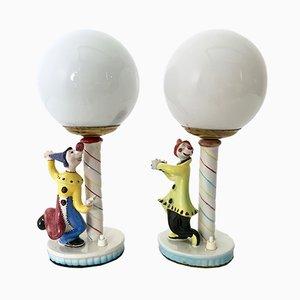 Lampes de Bureau, Italie, 1950s, Set de 2