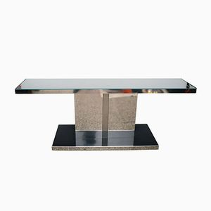 Console in Lacquered Wood and Steel, 1970s