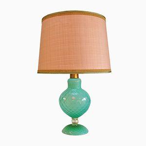 Lampada da tavolo fatta a mano in vetro di Murano, Italia, anni '50