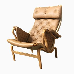Vintage Swedish Pernilla Easy Chair By Bruno Mathsson For Dux, 1970s