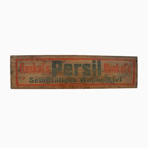 Vintage Wooden Persil Sign