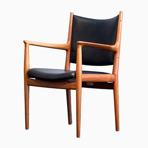 Vintage JH 513 Chair in Teak and Leather by Hans J. Wegner for Johannes Hansen