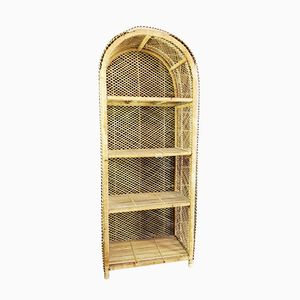 Vintage Shelf in Rattan