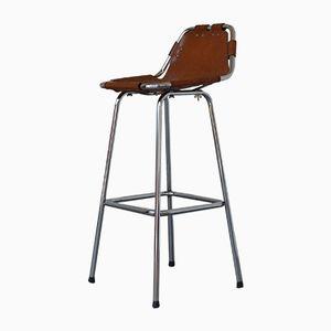 tabouret vintage par charlotte perriand pour les arcs en. Black Bedroom Furniture Sets. Home Design Ideas