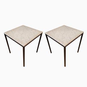 Tavolini in marmo, anni '70, set di 2