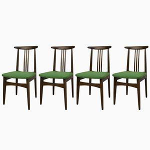 Green 200/100B Dining Chairs by M. Zieliński, 1960s, Set of 2