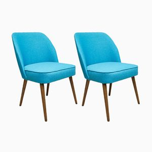 Small Blue Cocktail Chairs, 1960s, Set of 2