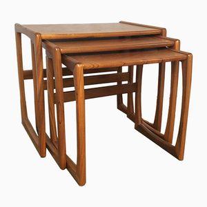 Tavoli ad incastro Quadrille in teak di G-Plan, anni '60