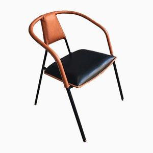 Sedia da ufficio di Jacques Adnet, anni '60