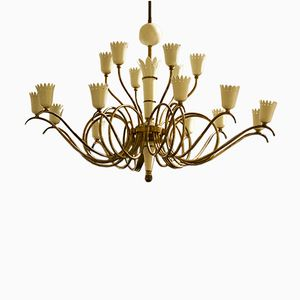 Italian Chandelier with Crown Shaped Details
