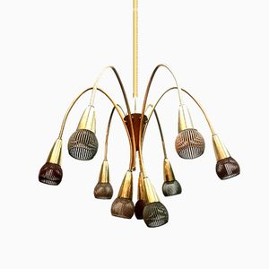 Mid-Century 9-Light Chandelier