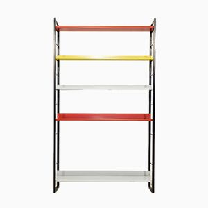 Large Multicolored Bookcase by A.D. Dekker for Tomado, 1950s