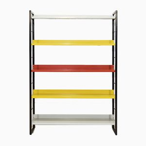 Multicolored Bookcase by A.D. Dekker for Tomado, 1950s