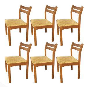 Dänische Mid-Century Teak Esszimmerstühle, 6er Set
