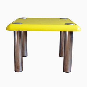 Vintage Yellow Bistro Coffee Table by Joe Colombo for Zanotta