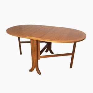 Tavolo da pranzo Mid-Century ovale pieghevole in teak di Nathan