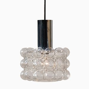 Silver Colored Bubble Pendant Light by Helena Tynell for Limburg, 1970s