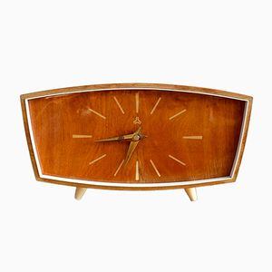 Mid-Century Wooden Table Clock from Weimar, 1950s