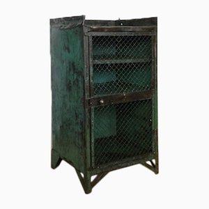 Vintage Industrial Cabinet in Riveted Metal