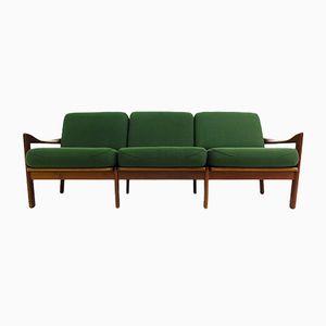 Mid-Century 3-Sitzer Sofa aus Teak von Illum Wikkelsø für Eilersen