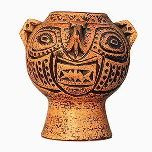 West Deutsche Vintage Kopf Vase von Jasba, 1960er