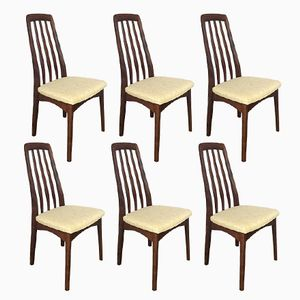 Mid-Century Swedish Rosewood Dining Chairs from Svegards, Set of 6
