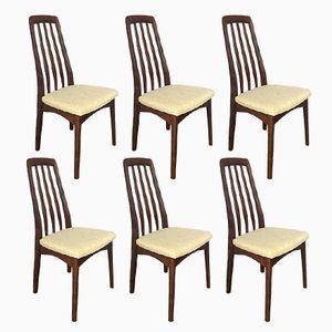 Schwedische Mid-Century Palisander Esszimmerstühle von Svegards, 6er Set