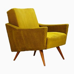 Mustard Yellow Club Chair, 1950s