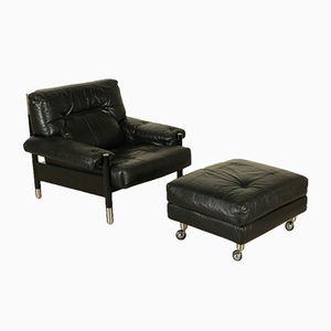 Vintage Sessel & Pouf von Carlo di Carli für Sormani