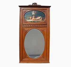 Französischer Trumeau Spiegel mit Abgeschrägtem Glas, 1930er