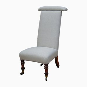 Antique Prayer Chair in Linen