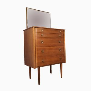 Teak and Bentwood Chest of Drawers with Mirror from Schreiber, 1960s