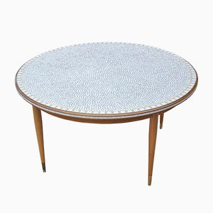 Vintage Mosaic Tiled Top Coffee Table