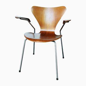 3207 Armlehnstuhl von Arne Jacobsen für Fritz Hansen, 1964